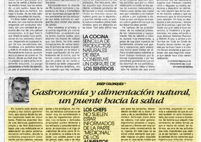 17-1 Josep Colonques - Artículo Alimentació Gastronomia Diario de Ibiza (2002)
