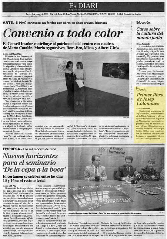 Primer libro Josep Colonques - Diario de Ibiza
