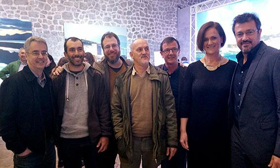 Josep Colonques en la presentación del libro de la sal de Ibiza y Formentera