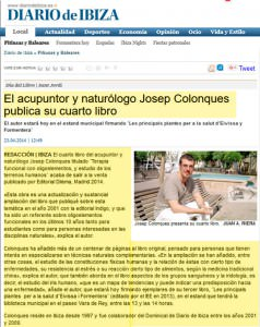 Cuarto libro Josep Colonques (Diario de Ibiza) Recorte 3