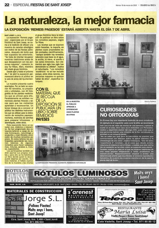 Josep Colonques  Plantas Medicinales Expo 2 St Josep