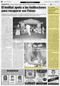 Foto recorte del Diario de Ibiza sobre premio literario del año 2000. Josep Colonques premio literario