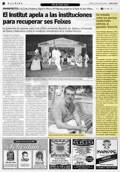 Josep Colonques Premi nit de st Joan 2000