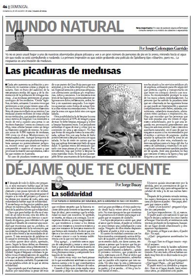 Josep Colonques picaduras medusas