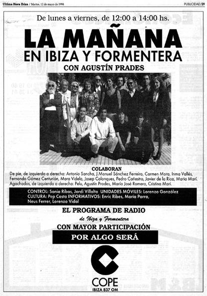 La Mañana Cope Ibiza Agustín Prades y Josep Colonques