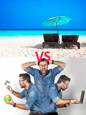 El cansancio y estrés del verano en Ibiza y Formentera