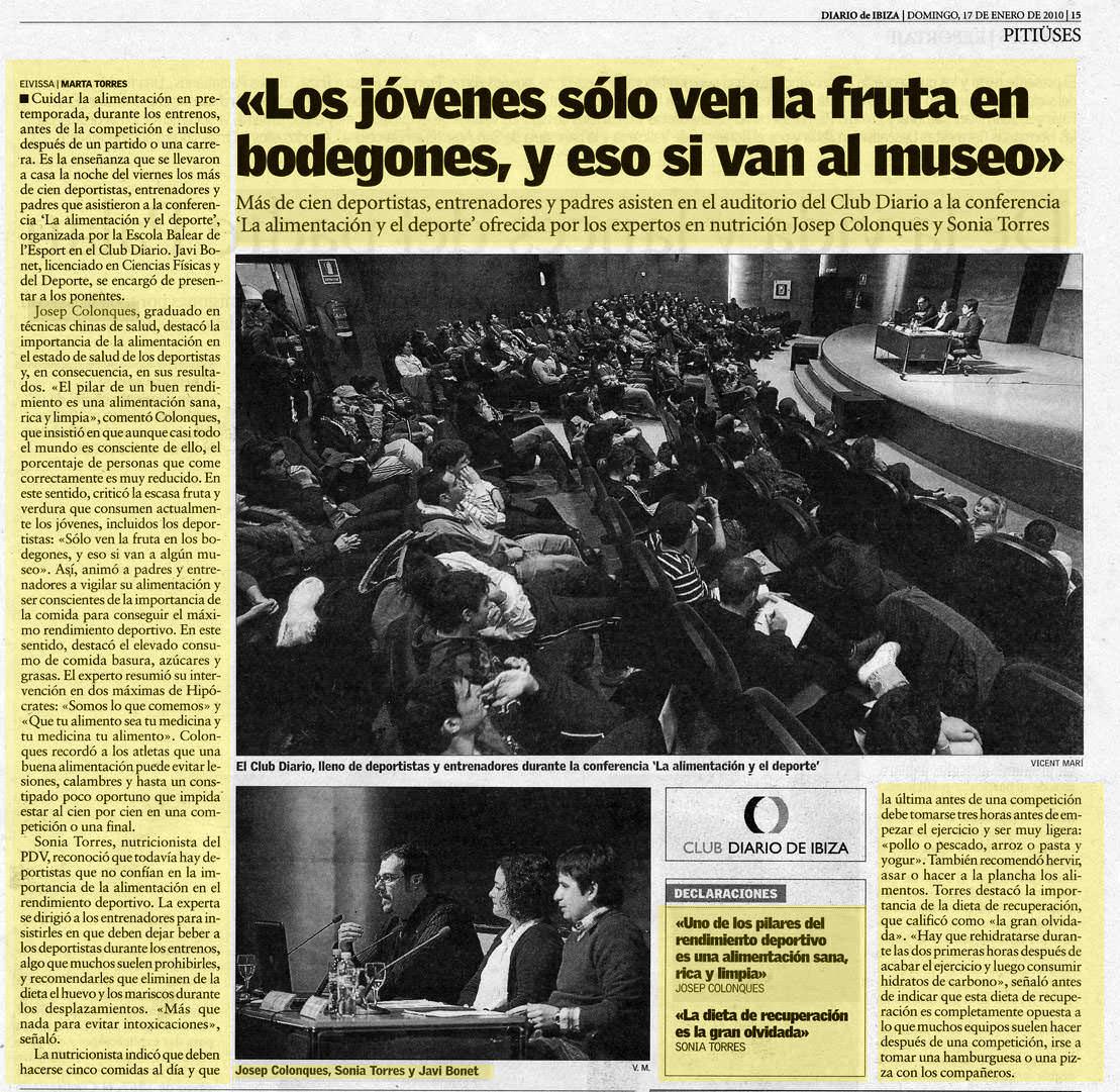 Josep Colonques - Charla Alimentacion y deporte (Club Diario - Ibiza 2009)