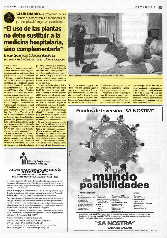 Josep Colonques - Conferencia plantas medicinales (Hotel Royal Plaza)