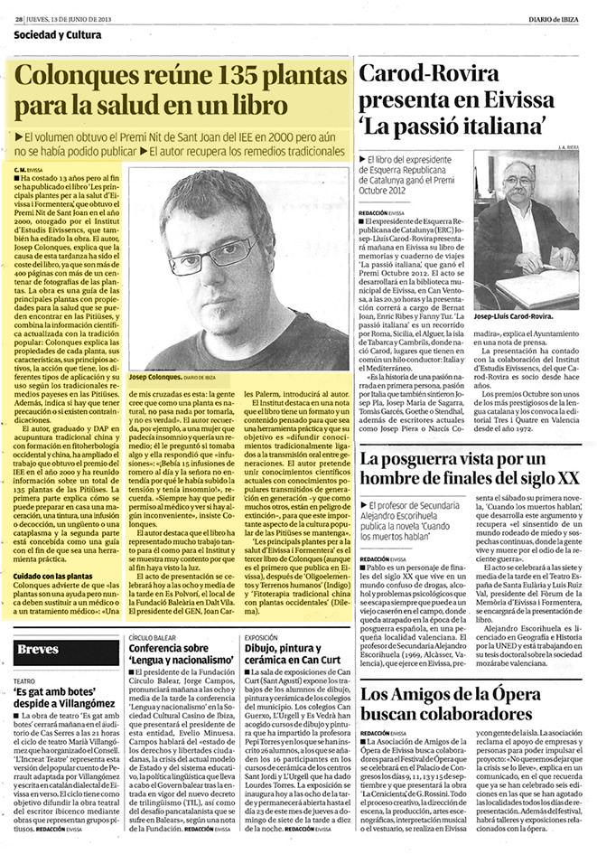 Josep Colonques Plantas Ibiza medicinales libro