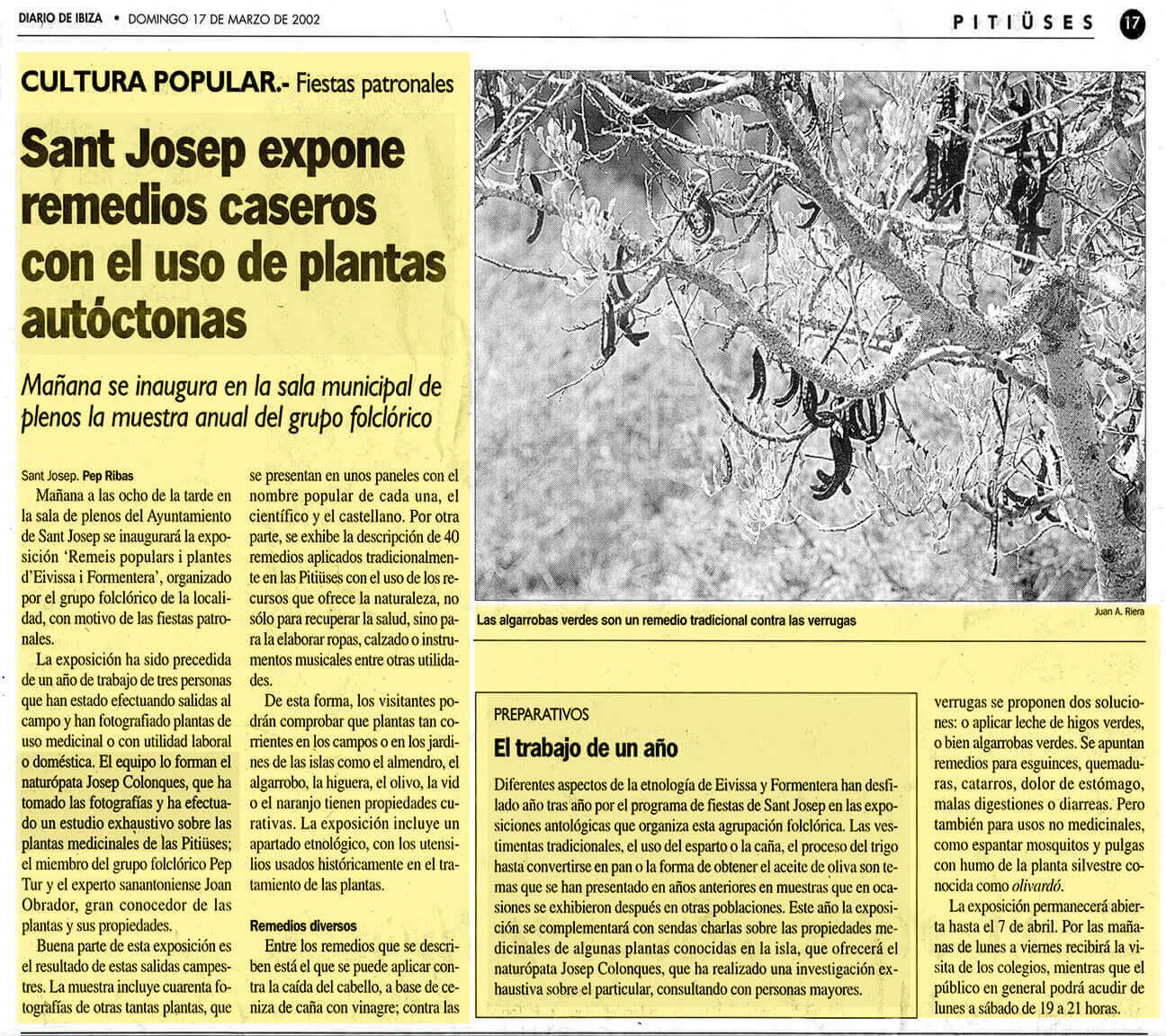 Josep Colonques Plantas Medicinales Expo  St Josep
