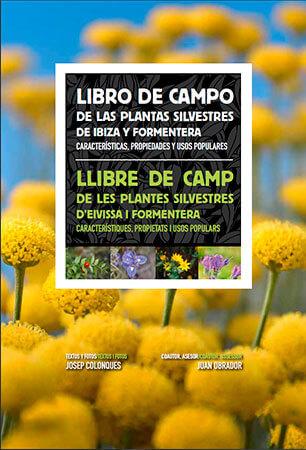 Portada del libro de campo de las plantas de Ibiza y Formentera de Josep Colonques
